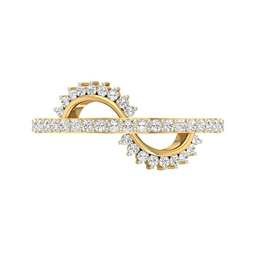 18 K Or jaune 0,35 CT TW Round-cut-diamond (IJ | SI) en diamant
