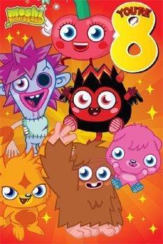 Moshi Monsters 8 años de edad tarjeta de cumpleaños: Amazon ...