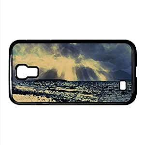 Crepuscular Rays Over Sea Watercolor style Cover Samsung Galaxy S4 I9500 Case (Beach Watercolor style Cover Samsung Galaxy S4 I9500 Case)