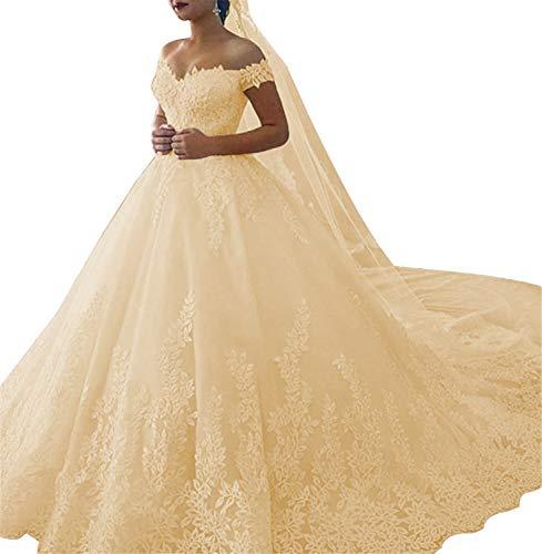 Homdor Long Mermaid Detachable Wedding Dresses Beaded Applique Formal Prom Gowns