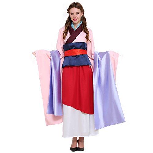 [CosplayDiy Women's Halloween Hua Mulan Cosplay Costume Dress Set CM] (Adult Mulan Costumes)