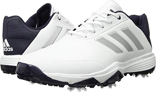 adidas Men's Adipower Bounce WD Golf Shoe, FTWR White/Silver met./Noble Ink Fabric, 9 Wide US