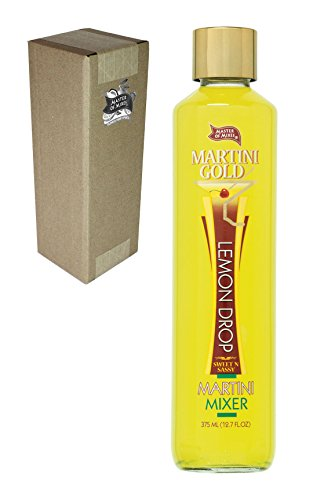 Master of Mixes Martini Gold Lemon Drop Drink Mix, 375 ml Glass Bottle (12.7 Fl Oz), Individually Boxed