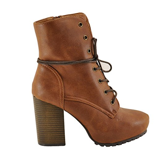 Camel up Qupid Boot High Sotto Women's Lace Toe 01 Heel Almond Cp7Caqv