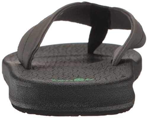 Sanuk Men's Brumeister Flip-Flop, Black, 9 UK Black
