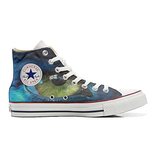 Converse All Star Customized Unisex - zapatos personalizados (Producto Artesano) con el ojo