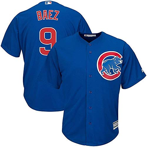 Majestic Javier Baez Chicago Cubs MLB Youth Blue Alternate Cool Base Replica Jersey (Youth Large 14-16)