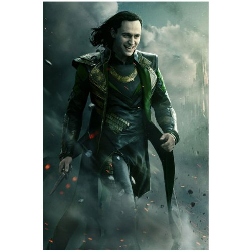 The Avengers Tom Hiddleston As Loki Walking In Smoke Holding Knife And Smiling 8 X 10 Inch Photo