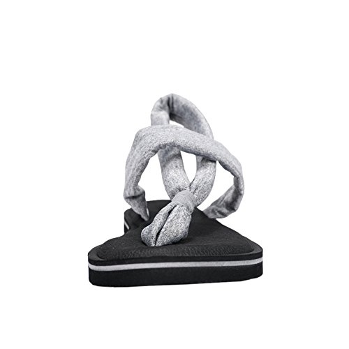 Fereshte Womens Lätta Yogamatta Rem Platta Sandaler Sling Gladiator Slingback Flip-flops Ny Grå