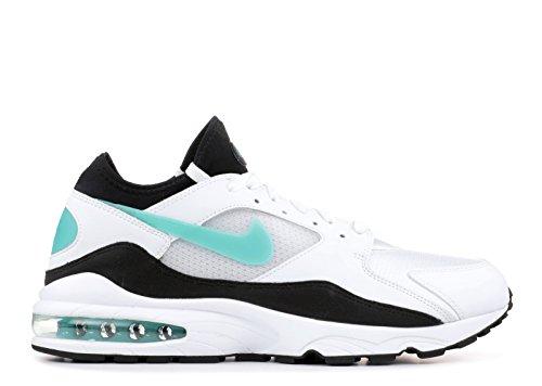 Bianca Scarpe 107 black Turq Sneakers Uomo White Nike Air 93 In Max Pelle Sport 306551 U8qvCw6dv