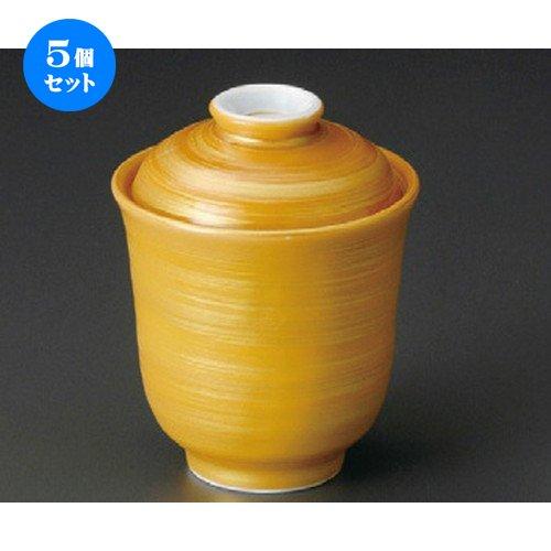 5個セット 茶金彩小吸物 [ 69 x 90mm ]【 小吸碗 】 【 料亭 旅館 和食器 飲食店 業務用 】 B07C76KL7B