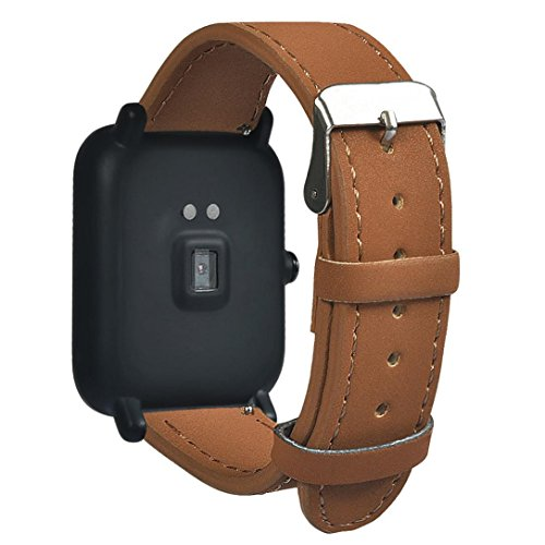 Kanzd Replacement Quick Release Classic Strap For Xiaomi Huami Amazfit Smartwatch  Brown