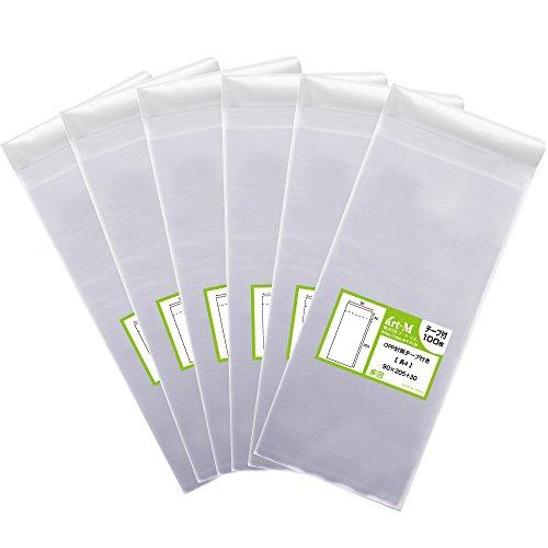 【 국산 】 테이프 딸린 장 4 【 A4 용지 4 성급 접기 용 】 투명 OPP 봉투 (투명 봉투) 【 600 개 】 30 미크론 두께 (표준) 90x205 + 30mm / 【Domestic】Length with tape [For 4-fol