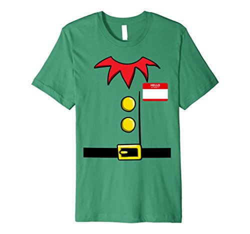 Christmas Elf Costume Ideas (Mens Elf Christmas Group Costume Idea T-Shirt Dwarf Name Plaque Small Kelly Green)