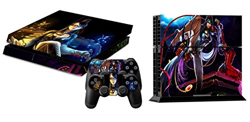 EBTY-Dreams Inc. - Sony Playstation 4 (PS4) - Bayonetta Jeanne Umbra Witch Video Game Girl Vinyl Skin Sticker Decal Protector