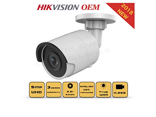 6MP PoE Security IP Camera - Compatible as Hikvision DS-2CD2063G0-I Night Vision Bullet Onvif IR Weatherproof 2.8mm Lens Best for Home and Business Security, 3 Year Warranty ()