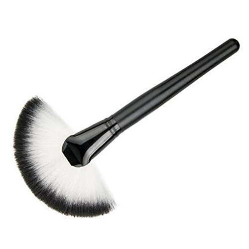 Large Fan Makeup Brush Face Powder Foundation Brush Cosmetic Kit Black Fan Shaped