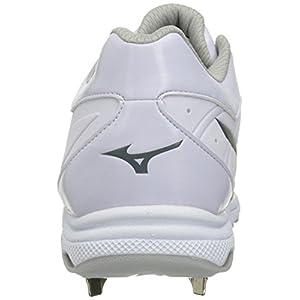 Mizuno Women's 9-Spike Advanced Sweep 3 Softball Shoe, White, 11.5 D US