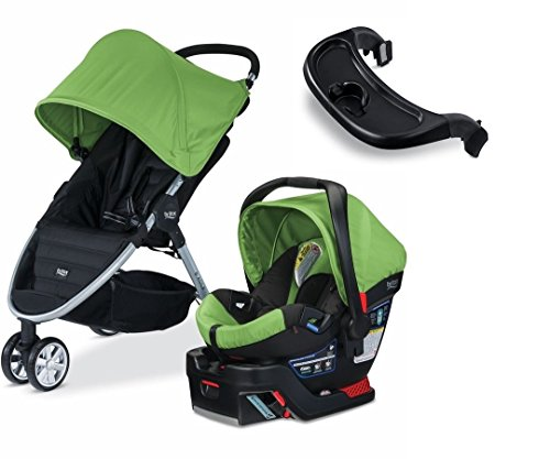 Britax 2015 B Agile 3 & B Safe 35 Travel System (Meadow) w/Bonus Child Tray