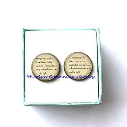 Quotes, Happiness can be found even in the darkest of times,Quote Earrings, Quote Earrings,quote jewelry (Kinder Halloween Poems)