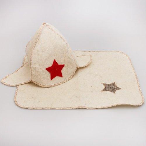 Sauna Accessory Set 'Budenny Hat'