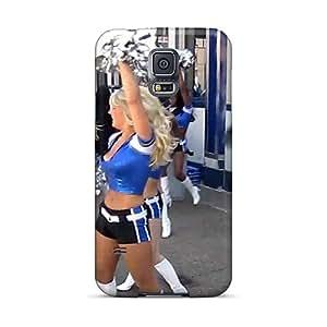 SRwCf15762Fvkff Case Cover Detroit Lions Cheerleaders Nfl Galaxy S5 Protective Case