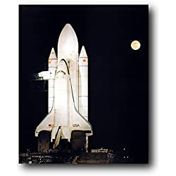 "HommomH 50"" x 80"" Blanket Throw Comfort Thin Soft Air Conditioning NASA Space Shuttle Night Moon"