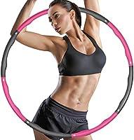 ZIMAIC Hula Hoop, Hoola Hoop für Erwachsene & Kinder zur Gewichtsabnahme und Massage, 6-8 Segmente Abnehmbarer Hoola Hoop...
