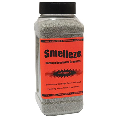SMELLEZE Natural Garbage Smell Removal Deodorizer: 2 lb. Granules Rids Smelly Trash Stench ()