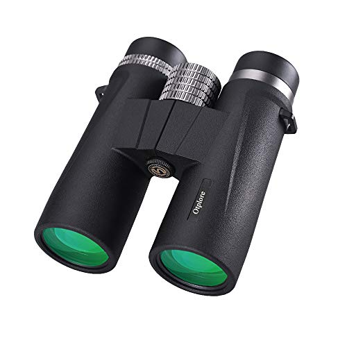 Cheap 10×42 Compact Waterproof Binoculars – High Powered Low Night Vision Binoculars for Hunting Bird Watching Star Gazing Sporting Events Marine with BAK4 Prism FMC Lens