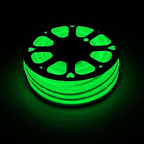 100FT Green Flexible LED Neon Rope Light Indoor Outdoor Holiday Party Home Decor and Commercial Lighting Use 110V - Bar Outdoor Neon Sign