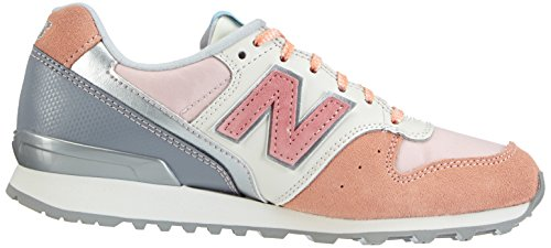 New Balance Patchwork 996  - Zapatillas para mujer Peach with Pink & Raspberry
