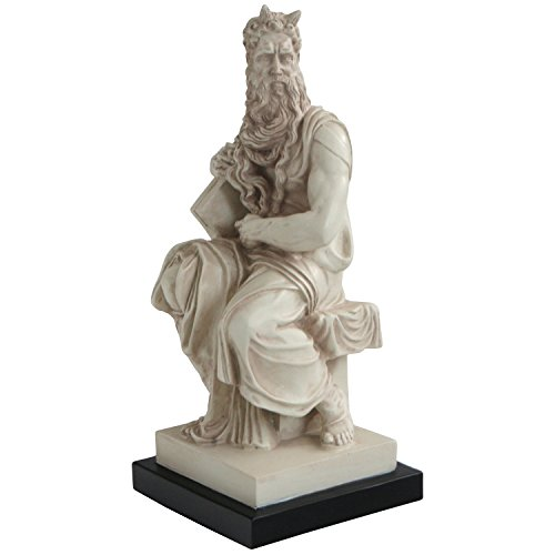 Culture Spot European Masters Moses Michelangelo Statue with Stone Finish | 11 Inches