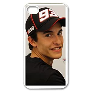 iphone4 4s White Marc Marquez phone cases&Holiday Gift