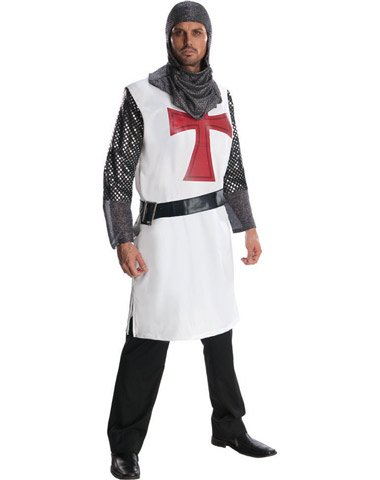 [Rubies Enterprises Ltd. Men's Knight To Remember Costume White One Size] (Adult Knight To Remember Costumes)