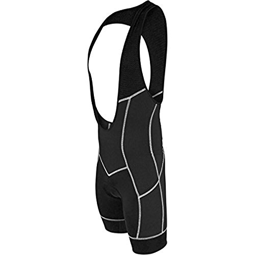 De Soto Men's 400-Mile Cycling Bib Short (X-Large, Black/White)