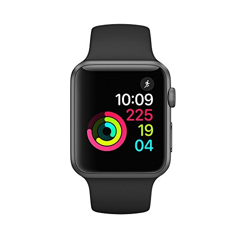 Apple Watch Series 1 38mm Smartwatch (Space Gray Aluminum Case, Black Sport Band)