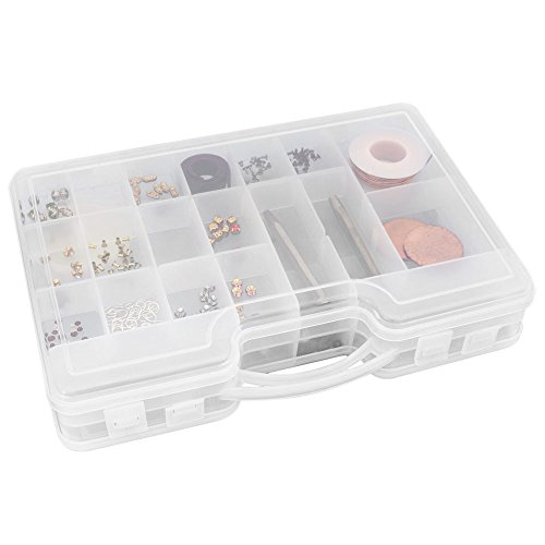 Beading and Jewelry Findings Double Sided Storage Box 11''x 8''x2-3/4'' by JewelrySupply