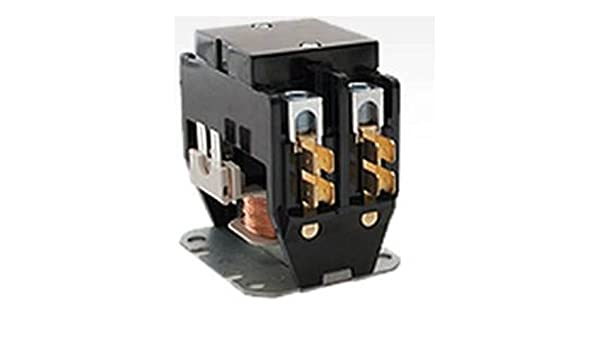 2 Pole 30 Amp 24v Condenser Contactor Relay 68J3601 OEM Replacement for Lennox Double Pole