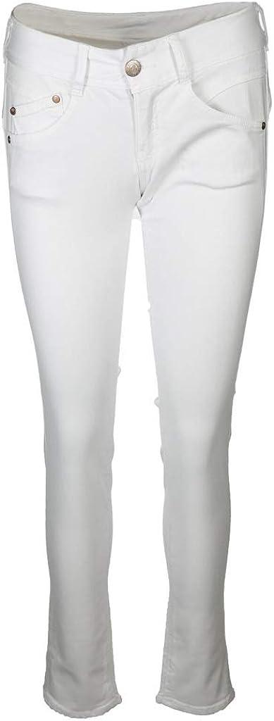 Herrlicher Damen Jeans Gila Slim Weiß