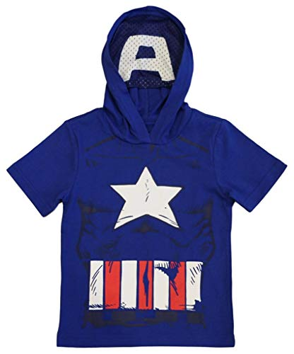 Marvel Avengers Little Boys' Toddler Captain America Hooded