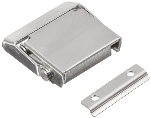 Stainless Steel Draw Latch (Stainless Steel 304 Spring Loaded Draw Latch, Polished Finish, Non Locking, 1 37/64