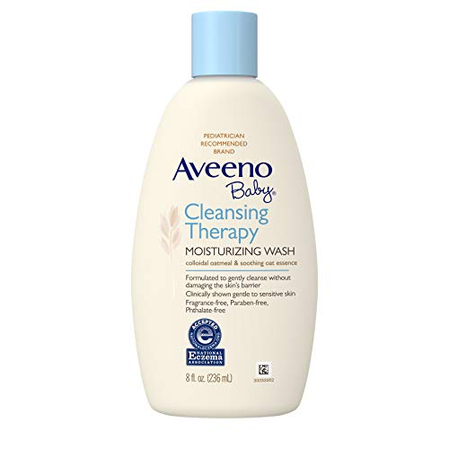 Aveeno Baby Cleansing Therapy Moisturizing Wash, Natural Colloidal Oatmeal, 8 fl. oz ()