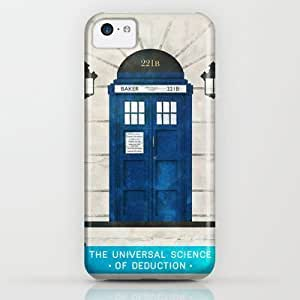 LZHCASE - Doctor Who & Sherlock iPhone & iphone 5s Case by Sof Andrade