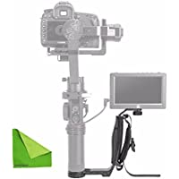 Zhiyun Mini Dual Grip, Transmount Single Handle Grip L Bracket Rig 1/4 Screw Connector for Zhiyun Crane 2 Crane Plus Crane M V2 Series Handheld Gimbal Stabilizer w/ EACHSHOT Cleaning Cloth