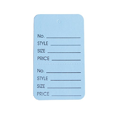 """Metronic Clothing Price Tags, 1-1/4""""×1-7/8"""" Light Blue Perforated Sale Tags, Pack of 1000"""