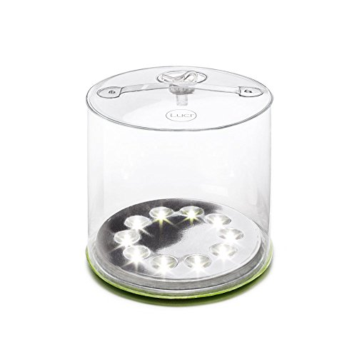Lantern Carry Solar Light - MPOWERD Luci Outdoor 2.0 - Inflatable Solar Light, Clear Finish, Adjustable Strap