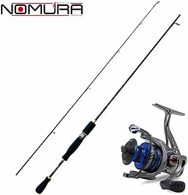 NOMURA Kit Spinning caña Akira 180 cm + Carrete Kanji 1000: Amazon ...