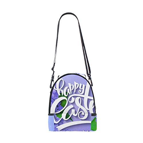 frías flores el doble para almuerzo Pascua hombro para de y Bolso correa vintage muelles de ajustable con picnic estilo w6qOCIR