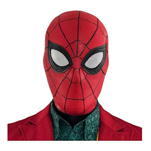 Spiderman Latex Mask Homecoming Costume Cosplay Hood Adult -